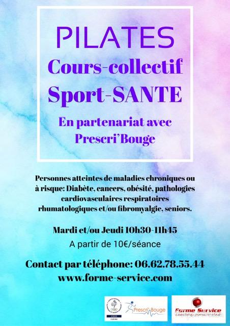 NOUVEAU: Cours-collectifs PILATES en Sport-Santé